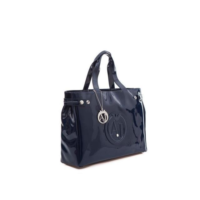 1e0372ace4df Armani - Jeans Sac a Main 529155 Bleu 38 cm Femme - pas cher Achat   Vente  Sacs à main - RueDuCommerce