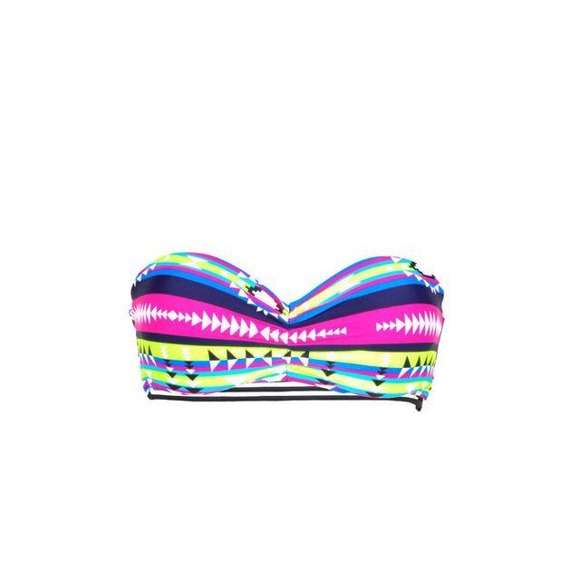 Mon Petit Bikini - Mon bandeau Teenie Bikini Aztèque multicolore (Haut) f55d6283f31