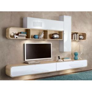 Inside75 composition murale tv cobra design blanche et - Composition murale tv design ...