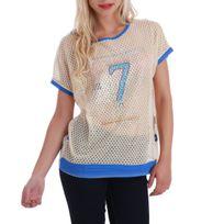 Lamodeuse - T-shirt large et ajouré