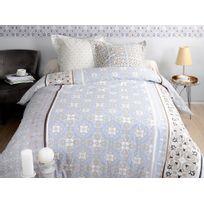 housse couette beige marron achat housse couette beige marron pas cher soldes rueducommerce. Black Bedroom Furniture Sets. Home Design Ideas