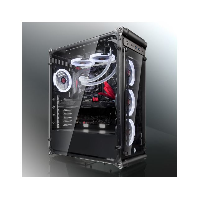 RAIJINTEK Coeus Evo TC Midi-Tower, Tempered Glass - Noir