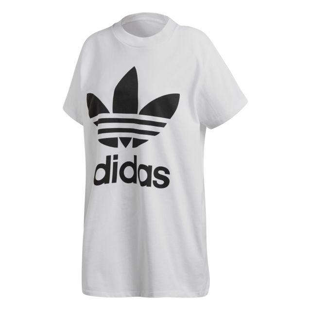 Adidas T shirt femme Oversize Trefoil pas cher Achat
