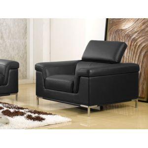 soldes la maison du canap fauteuil cuir rania cuir sup rieur noir pas cher achat. Black Bedroom Furniture Sets. Home Design Ideas
