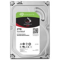 SEAGATE - Disque dur interne IronWolf 2 To 3.5'' 7200 RPM 64 Mo Serial ATA 6 Gb/s pour NAS
