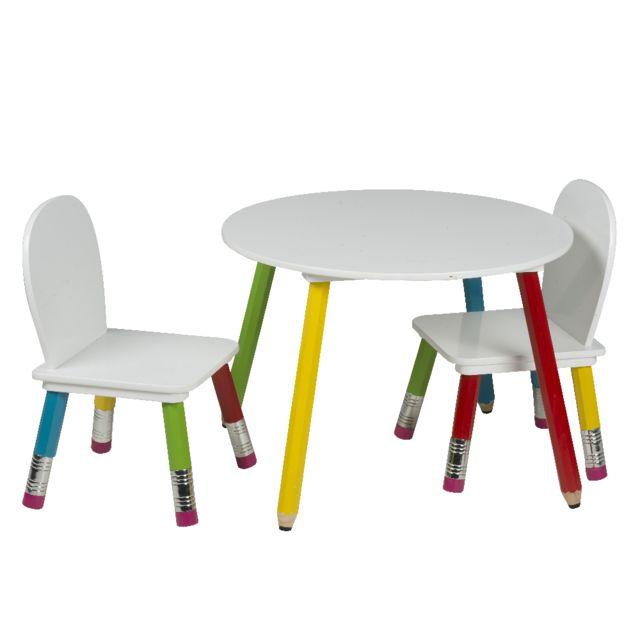 Chaises Enfants Maison Table Et Ensemble Pieds Futee Crayons De PkX0wNOn8