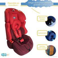 Bebe Lol - Siège auto évolutif Isofix Bébélol® pour enfant groupe 1+2+3 normes Ece R44/04 - rouge