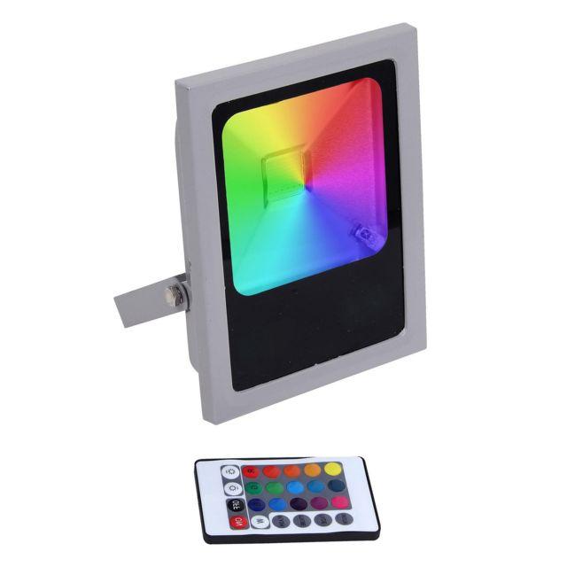 europalamp projecteur led rgb 100w multicolore pas. Black Bedroom Furniture Sets. Home Design Ideas