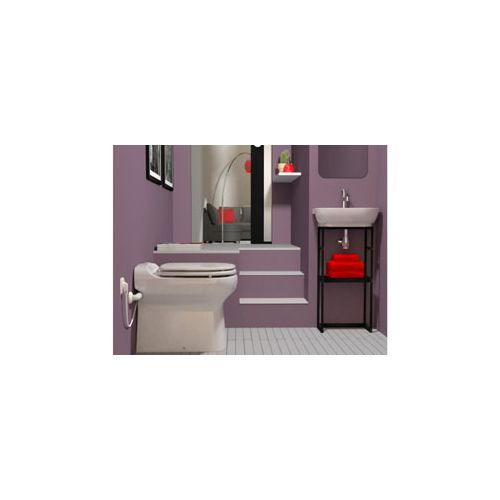 sfa toilette sanibroyeur sanicompact elite pas cher achat vente wc rueducommerce. Black Bedroom Furniture Sets. Home Design Ideas