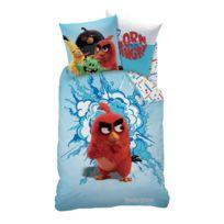 Angry Birds - Housse de couette et taie d'oreiller bleu 140x200 cm 100% coton