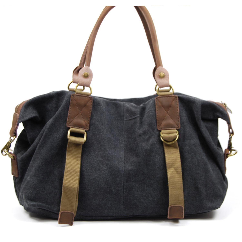 Oh My Bag - Sac ? main week-end femme cuir et Toile - Mod?le Grenade