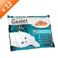 Gourmet - Perle Les filettines en sauce pour chat 4 x 85g -12