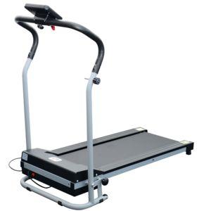 homcom tapis roulant de course electrique fitness argent noir 98 pas cher achat vente. Black Bedroom Furniture Sets. Home Design Ideas
