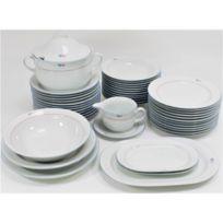 ee1669180194d2 Générique - Service de table Vaisselle en porcelaine de Baviere pour 12  personnes 44 pieces Elza