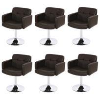 Mendler Lot de 6 chaises Kavala, chaises pivotantes