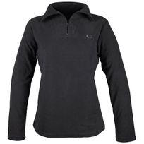 Sedetex - Sweat-shirt maille micro polaire - Noir