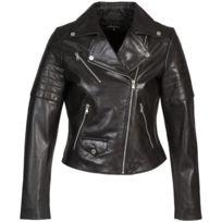 Redskins - Blouson en cuir Perfecto Marbri Noir
