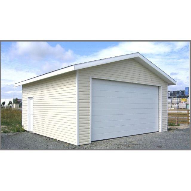 Habrita Garage Bois Bardage Pvc 634 X 634 Cm 40 M2