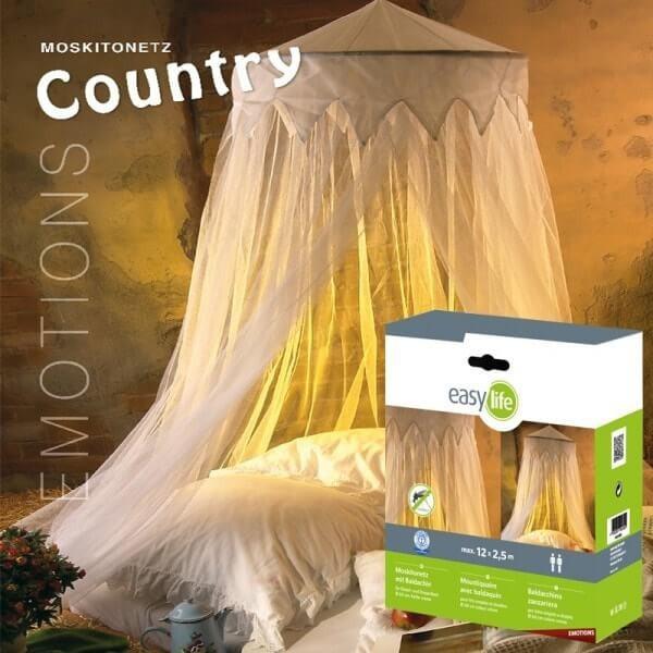 Moustiquaire Ciel de Lit Country - Crème - Circ.1200 x H250 cm