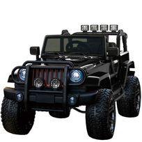 Grand 4x4 voiture électrique pour enfant 24 volts noir luxe pneus gomme EVA