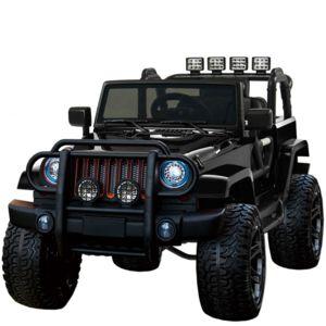 voiture electrique grand 4x4 voiture lectrique pour enfant 24 volts noir luxe pneus gomme eva. Black Bedroom Furniture Sets. Home Design Ideas