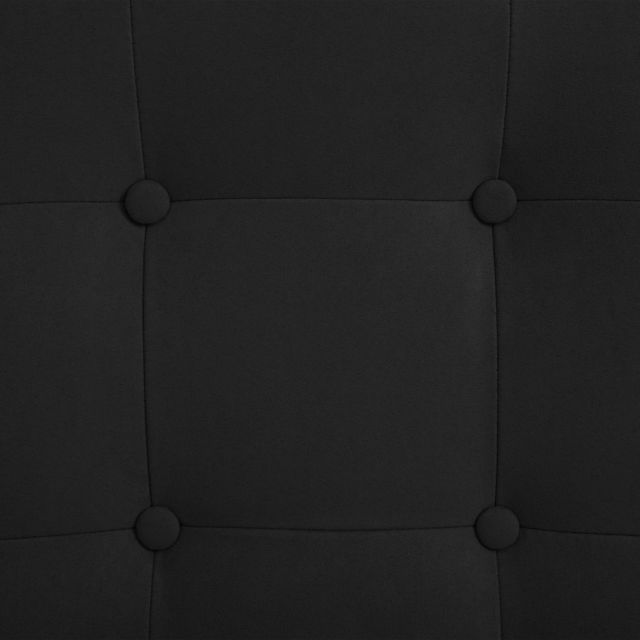 Fauteuil de Massage avec Repose pieds Noir Tissu en Daim Chaise Salon