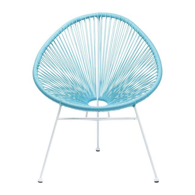 Karedesign Fauteuil de jardin Spaghetti bleu clair Kare Design