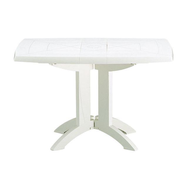 Table de Jardin Vega Pliante Blanc 118 x 77 cm