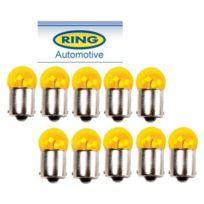 Ring - 10 Ampoules Bau15S 12v 10w Ry10W Orange