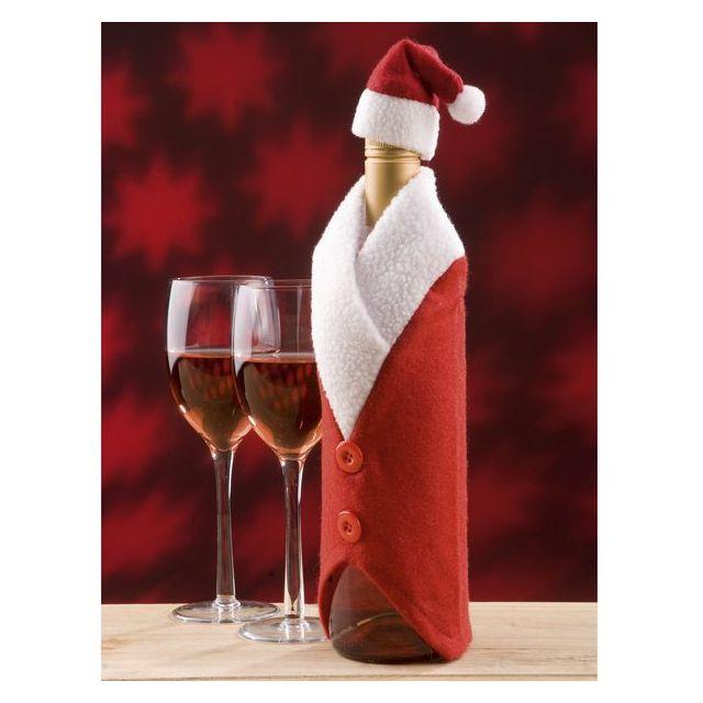 MAISON FUTEE Couvre bouteille Père Noel
