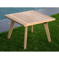 Table basse jardin teck - catalogue 2019 - [RueDuCommerce - Carrefour]