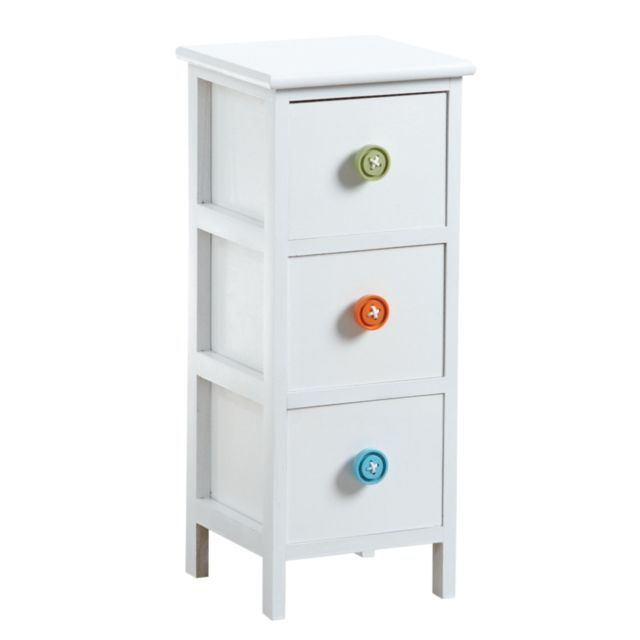 AUBRY GASPARD Commode 3 tiroirs avec boutons