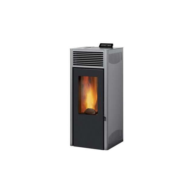 invicta nola 7 poele a granules modulable de 2 5 a 7 kw acier rendement 86. Black Bedroom Furniture Sets. Home Design Ideas