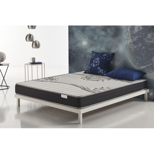 COSMOS Matelas GENESIS 120x190 cm mousse HR ACTIVE LATEX® - BLUE LATEX® - 17 CM
