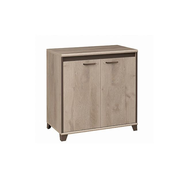 Commode 2 portes 80x82x46cm naturel - Rafael