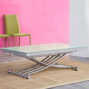 table relevable transformable rita blanc 1 28 Meilleur De Table Relevable Transformable Zzt4