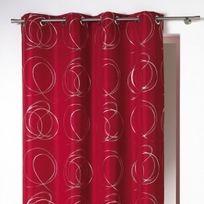 rideau rouge gris - Achat rideau rouge gris pas cher - Rue du Commerce