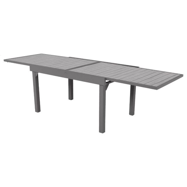 HESPERIDE - Table extensible composite Piazza 6/10 places Noir/Tonka ...