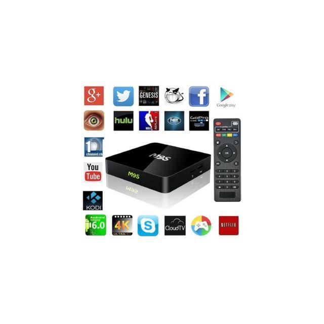 Auto-hightech Box Tv Android 6.0 2.4G avec WiFi Hdmi et lecteur Bluetooth 4.0 Quad Core 1+8GB – Prise Ue