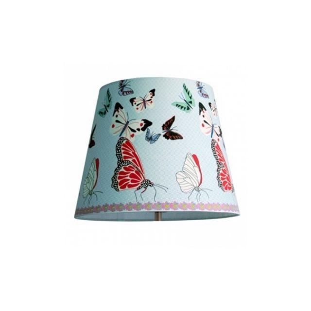 ouvre&deco . Luminaire et susp Abat-jour conique 34cm Décoration Butterfly