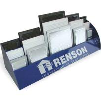 Renson S.A. - Grille D'AERATION Aluminium Estampee Avec Moustiquaire - 436M - Argent - Larg. mm:250 - Haut. mm:250