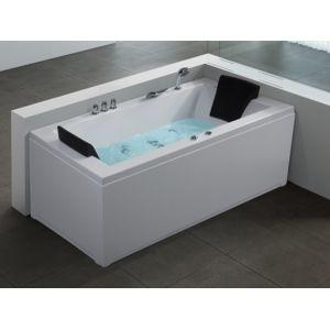 beliani baignoire rectangulaire baignoire baln o chromoth rapie et hydromassage varadero. Black Bedroom Furniture Sets. Home Design Ideas