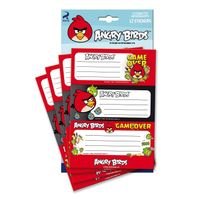 Angry Bird - Angry birds - 12 étiquettes autocollantes - Game Over