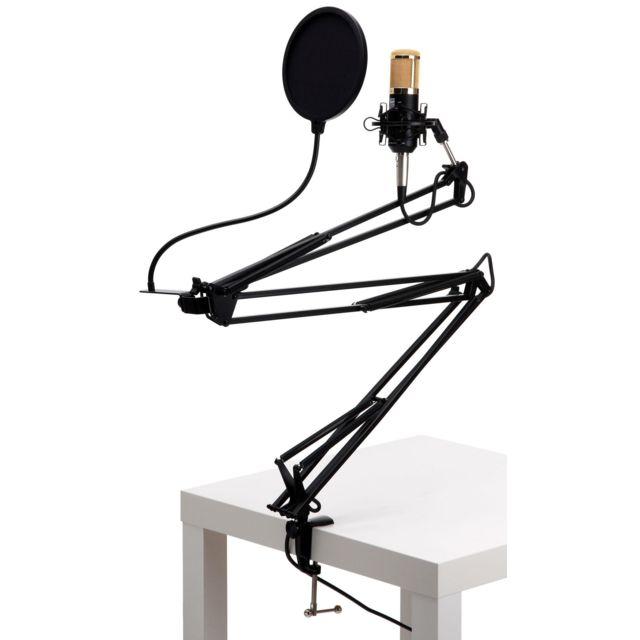 Pronomic - Cm-100BG Radioshow Bundle incl. filtre anti-pop noir & bras micro