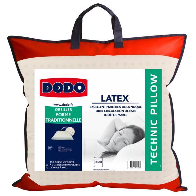 dodo oreiller latex 60x60cm pas cher achat vente oreillers rueducommerce. Black Bedroom Furniture Sets. Home Design Ideas