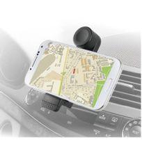 Made For Xperia - Support universel Muvit noir rotatif grille pour smartphones jusqu'à 6 pouces