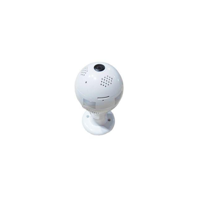 Auto-hightech camera Ip ampoule infrarouge 360 Degree , objectif 1.44mm 1.3 Megapixel , Prise en charge du moniteur de détection , ala