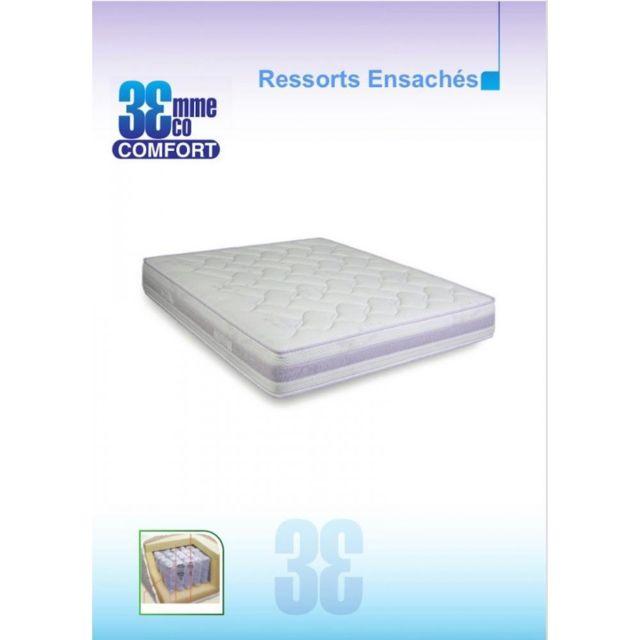 Inside 75 Matelas Eco-Confort Ressorts Ensaches 7 Zones couchage 80 200cm épaisseur 23cm