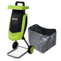ALICE'S GARDEN - Broyeur à végétaux électrique VOLTR, 2200W avec sac de récupération, poussoir, roulettes, broyage des branches pour engrais ou compost