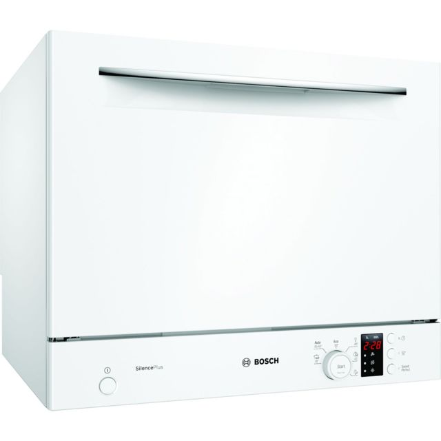 Bosch lave-vaisselle compact 6 couverts a+ pose-libre blanc - sks62e32eu
